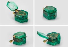 "Things from the past 📷🎥 on Twitter: ""English pocket watch made of Colombian emerald, c. 1600.… "" Ancient Jewelry, Antique Jewelry, Vintage Jewelry, Vintage Art, Bijoux Design, Jewelry Design, Columbian Emeralds, Emerald Jewelry, Bijoux Diy"
