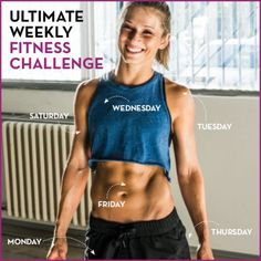 Try this weekly fitness challenge to work out every part of your body!