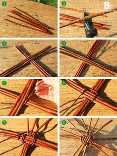 This rustic birdhouse craft is very easy to do. Paper Basket Weaving, Basket Weaving Patterns, Straw Weaving, Willow Weaving, Flax Weaving, Twig Crafts, Nature Crafts, Crafts To Make, Fall Crafts
