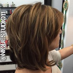 80 Best Modern Hairstyles And Haircuts For Women Over 50 In 2019 with proportions 1080 X 1081 Medium Length Layered Bob Hairstyles With Bangs - Bob Medium Shag Hairstyles, Layered Bob Hairstyles, Medium Length Hair With Layers, Medium Layered Hair, Hair Medium, Modern Haircuts, Modern Hairstyles, Fun Hairstyles, Hairstyles For Over 50
