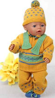 I hope you to will enjoy knitting the clothes for your doll! Design: Målfrid Gausel http://www.doll-knitting-patterns.com/0110D-american-girl-doll-sweater-pattern.html