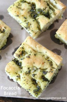 Focaccia Bread Recipe on twopeasandtheirpod.com This bread goes great with every meal!