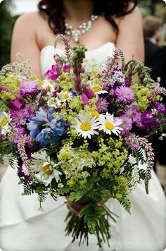 Wild Flower Bouquet...not our colors but love this!