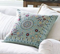 cute pillow with nice colors could be more vivid though jemma embroidered pillow cover
