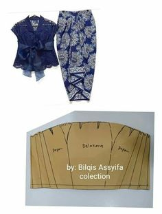 Pola Rok, Model Kebaya, Skirt Patterns Sewing, Girls Fashion Clothes, Pants Pattern, Fashion Sewing, Pattern Fashion, Blouse Designs, Kids Outfits