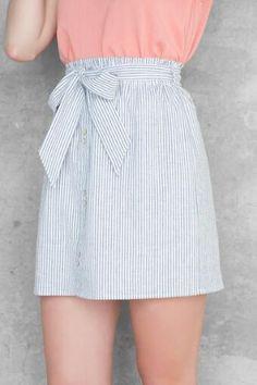 Maisy Seersucker Skirt