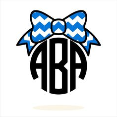 Personalized Monogram Chevron Bow svg dxf pdf Vector by SVGTree, $5.00