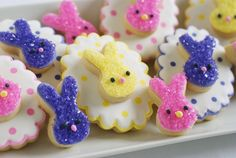 Adorable double-decker bunny cookies from @Eva Bake at 350