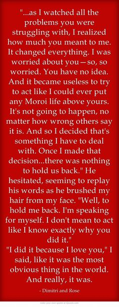 Vampire Academy Quotes | Dimitri Belikov and Rose Hathaway