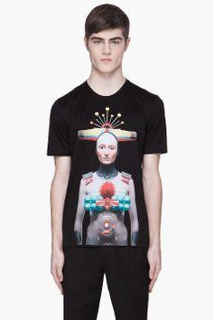 JUUN.J Black Dont worry be happy applique T-Shirt