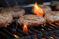 The smell of grilling hamburgers
