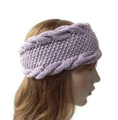 Hand Knit Headband in Dusty LilacHandmade Women's by Need4KnitShop