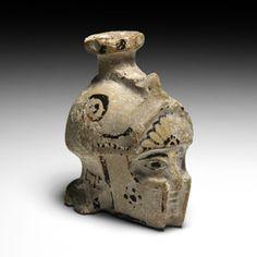 Greek Corinthian Warriors Head Aryballos Greek Pottery, Corinthian, Ancient Art, Warriors, Auction, Vase, Antiques, Decor, Old Art