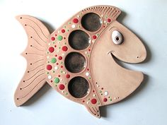 Adventní svícen - Kapřík / Zboží prodejce monikasimi | Fler.cz Clay Crafts, Diy And Crafts, Clay Fish, Pottery Animals, Ceramic Plates, Decoration, Sculpture Art, Ceramics, Lights