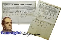 June 1861-Vice President H. Hamlin: Telegram re meeting with Colonizationist D. W. Lord