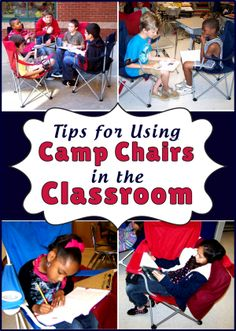 """I'll be watching for mega sales on these!Tips for Using Camp Chairs in the Classroom - good alternative """"fun"""" seating that can be easily stored"""