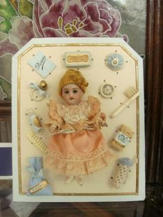 french doll accessories   ... about Little cute French doll and her accessories on display card