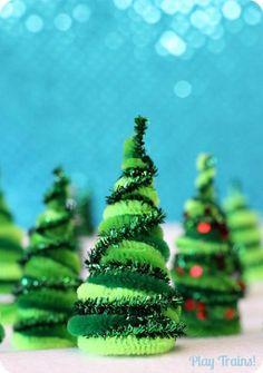 Adornos de Navidad con limpia pipas o chenille - Dale Detalles
