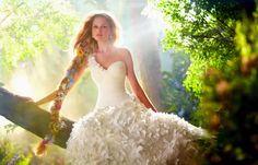 Disney Themed Wedding Dress Model