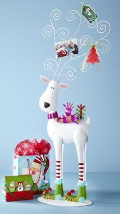Pier 1 Jolly Reindeer Photo Holder lends holiday cheer