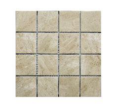 Coco Cream Square - T0028345: Coco Cream Square Mosaic 300x300mm Coco Cream, Bathrooms, Mosaic, Tile, Africa, Porcelain, Decor, Mosaics, Porcelain Ceramics