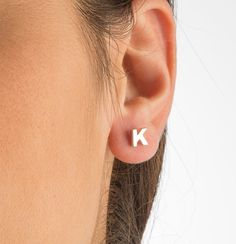 Initial Studs Earrings Style Jewelry 9thelm Pinterest Initials And Ping