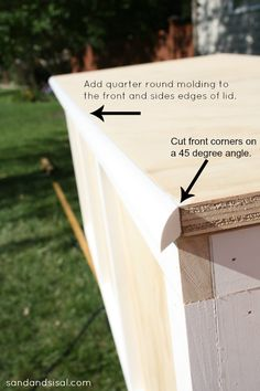 DIY Outdoor Storage Box / Bench
