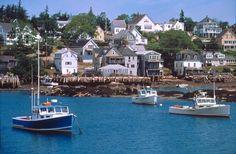 Maine's Deer Isle. Look at that striking blue water.