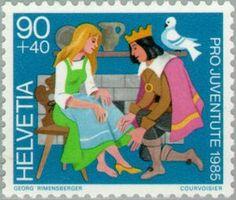 Issued in 1985, Switzerland - Cinderella
