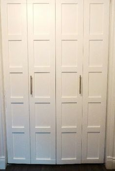 how to make regular doors bi-fiold