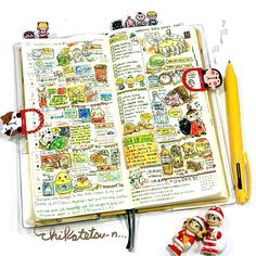 My first week~ #illustration #art #artist #doodle #drawing #watercolour #cute #chikatetsun #hobonichi #journal #planner #イラスト #絵 #水彩画 #ほぼ日手帳 #絵日記 #chikatetsun日付シート #chikatetsun #日付シート #ネットプリント #hobonichitecho