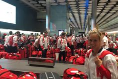 British Olympic athletes all have the same red bag and nobody can work out whose…