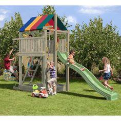 Speeltoestel Paradise Met Schommel En Glijbaan - Speeltoestel Baby Playroom, Park, Fun, Paradise, Products, Climbing Rope, Sandbox, Playground, Wood Games