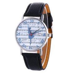 Women's watches Relogio feminino Saat New Clock Music Spectrum Pattern Fashion Women Colored PU Leather Watch Women's Dress Watches, Watches For Men, Women's Watches, Girl Watches, Unique Watches, Ladies Watches, Retro, Quartz Watch, Fashion Watches