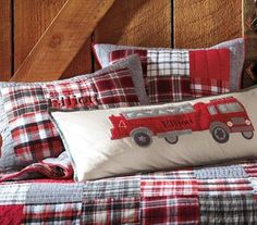 firetruck themed nursery   ... as her inspiration for a Fireman Themed Room for her 2 year old son