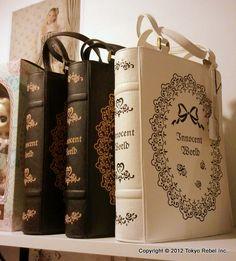 Innocent World Rose Lace Book bags! Designed by Yumi Fujiwara. Photo from Tokyo Rebel Inc. (2012)