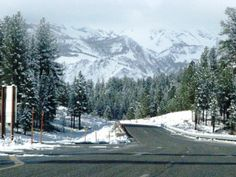 Winter in Mammoth Lakes, CA