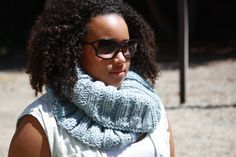 Fall Fashion on SALE Slate Gray Super Chunky Hand Knit Cowl by LilRedKnittingHood, $28.00