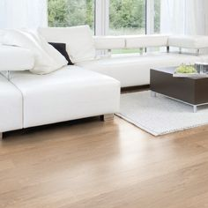 Hydrocork Flooring by Wicanders. Proudly distributed in NZ by Quantum. Why cork? A lifetime guarantee on an eco-friendly solution that is waterproof and tested for quiet and comfort. Floating Floor, Cork Flooring, Carpet Tiles, Light Oak, Eco Friendly, Castle, Porcelain, Couch, Living Room
