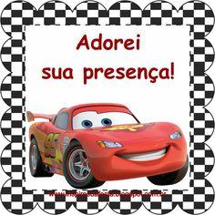 Carros Disney – Kit festa infantil grátis para imprimir – Inspire sua Festa ®
