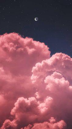 Mond zwei im nächtlichen Himmel whatsapp wallpaper - Wallpaper Ideas Tumblr Wallpaper, Pink Clouds Wallpaper, Night Sky Wallpaper, Iphone Background Wallpaper, Nature Wallpaper, Galaxy Wallpaper, Wallpaper Wallpapers, Lock Screen Backgrounds, Iphone Wallpaper Glitter
