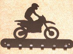 Dirt Bike KEY RACK Coat Hook Leash Polaris Honda Kawasaki Yamaha Arctic Cat Can-Am
