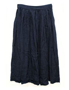 Casey Casey indigo skirt  Rearside zipper, 2 lateral pockets  Composition: 100% linen  Made in France