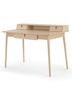 The Penn Desk, in Pale Ash and Eton Blue. a Collaboration between MADE.COM and Living etc. £399. MADE.COM