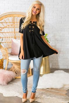 Bat My Lashes Tunic in Black