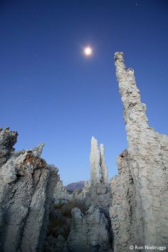 Full Moon over Tufa Formations, Mono Lake Tufa State Reserve, California