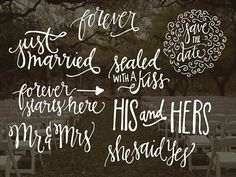 Check out Hand Lettered Wedding Overlays by OnTheSpotStudio on Creative Market