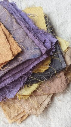 Fleece Love and Happiness: Natural Dyes and Linen