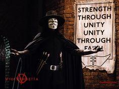 """V for Vendetta"", a dystopian action film."