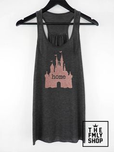 Rose Gold Glitter Disney Home Tank, Home Castle Shirt, Home Disney Casle Tank Top, Sparkle Disney Shirt, Sparcle Disney Tank Top Disney Clothes, Disney Outfits, Cute Outfits, Disney Fashion, Disney Home, Disney Fun, Disney Style, Disney Tank Tops, Disney Shirts